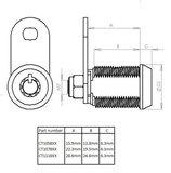 """Tubular Slot 28.6mm 1-1/8"""" S100_"""