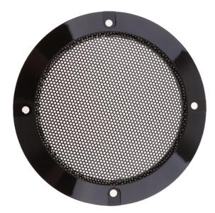 Installatie zwarte speaker grill